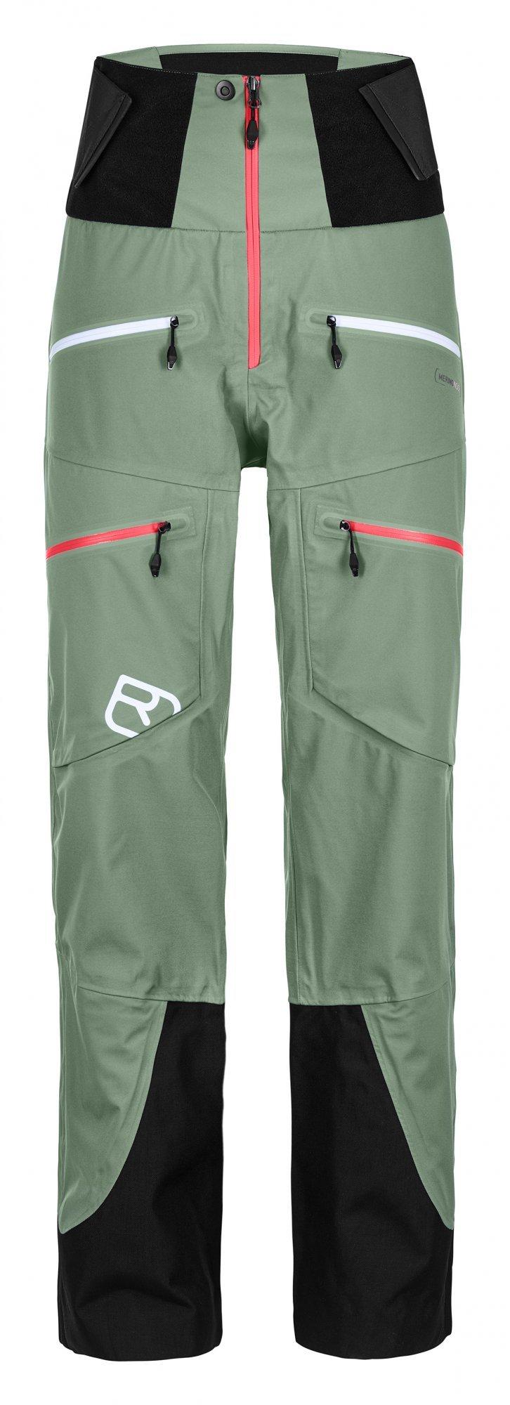 Ortovox 3L Guardian Shell pants W, green isar