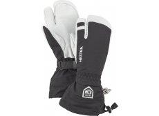 Hestra Army Leather Heli Ski 3-Finger Herre Sort/Hvid