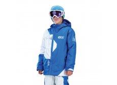 picture-ORGANIC-CLOTHING Fink børnejakke, blå/hvid