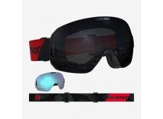 Salomon S/Max + Ekstra Linse Black-Red/Solar Black